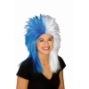 Sports Fanatic Wig Blue/White